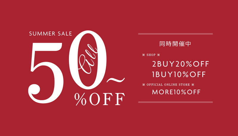 <SUMMER SALE>ALL50%OFF~