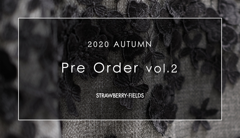 【OFFICIAL ONLINE STORE】2020AW PRE ORDER