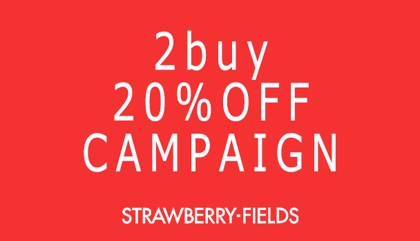 2BUY 20%OFF CAMPAIGN!!